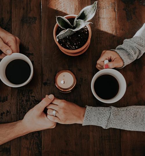 Couple Coffee Hands